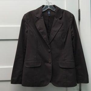 Dark brown career blazer